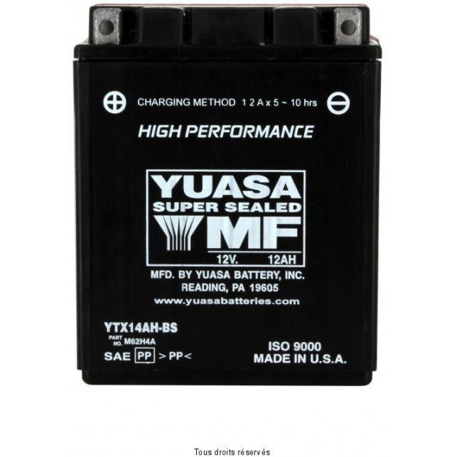 Batterie YUASA YTX14AH-BS sans entretien