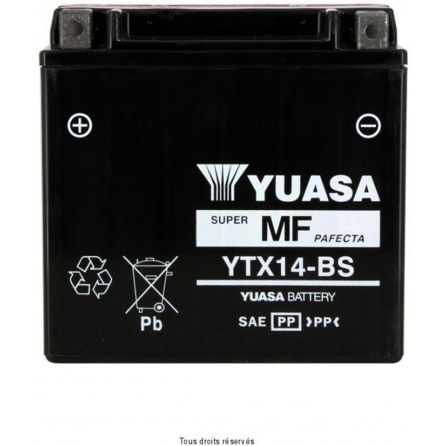 Batterie YUASA YTX14-BS sans entretien
