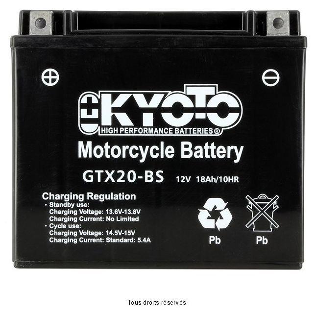 Batterie KYOTO YTX20-BS sans entretien