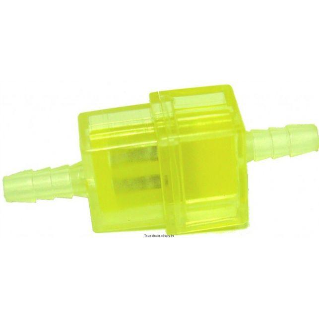 Filtre à essence Plastique KYOTO Plat Jaune Ø6mm