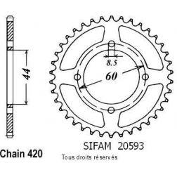 Couronne 50 à boite 20593CZ45 pour DT 50 R 88-90