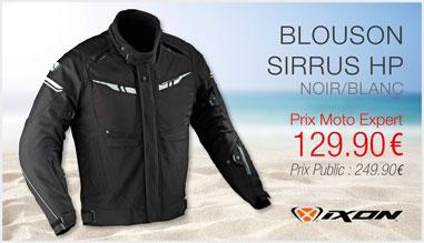 Blouson IXON Sirrus HP noir-blanc