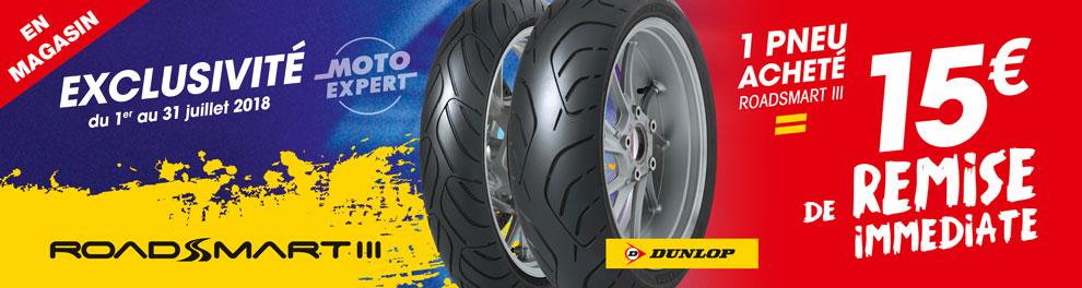 Exclusivité Moto Expert - Offre Dunlop Roadsmart 3