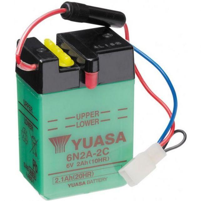 Batterie YUASA 6N2A-2C avec entretien