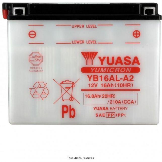 Batterie YUASA YB16AL-A2 avec entretien