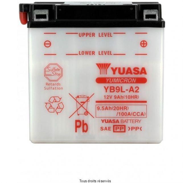Batterie YUASA YB9L-A2 avec entretien