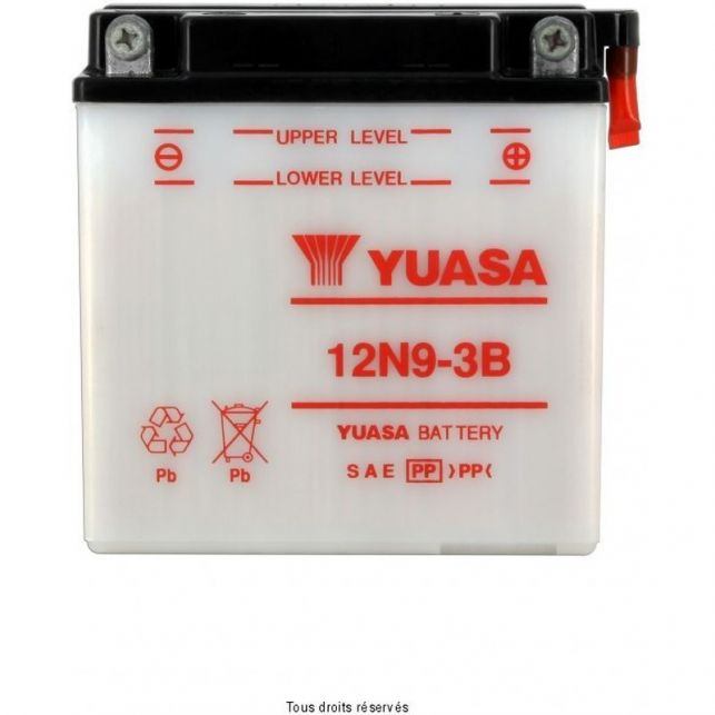 Batterie YUASA 12N9-3B avec entretien