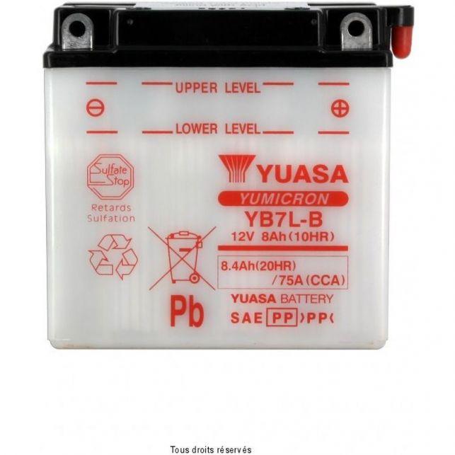 Batterie YUASA YB7L-B avec entretien