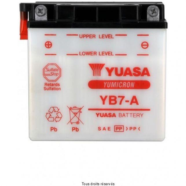 Batterie YUASA YB7-A avec entretien