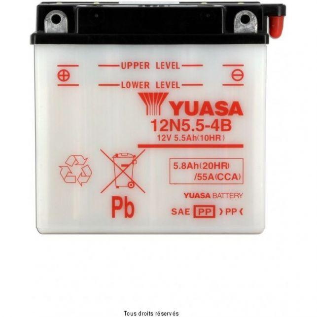 Batterie YUASA 12N5.5-4B avec entretien