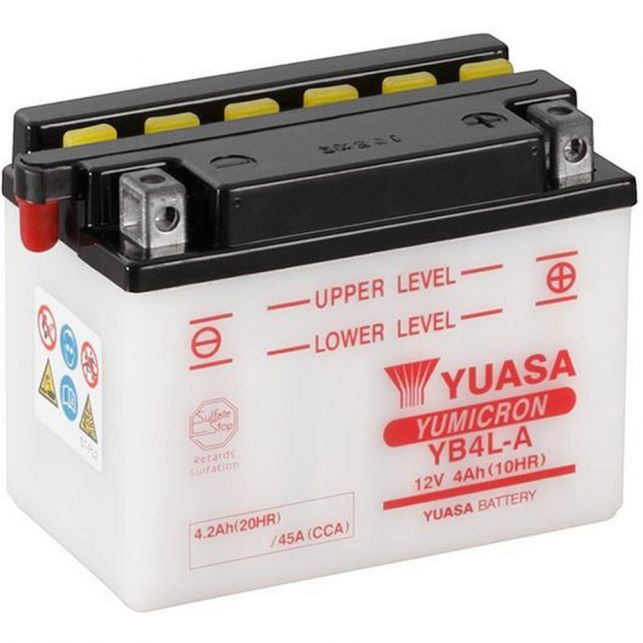 Batterie YUASA YB4L-A avec entretien
