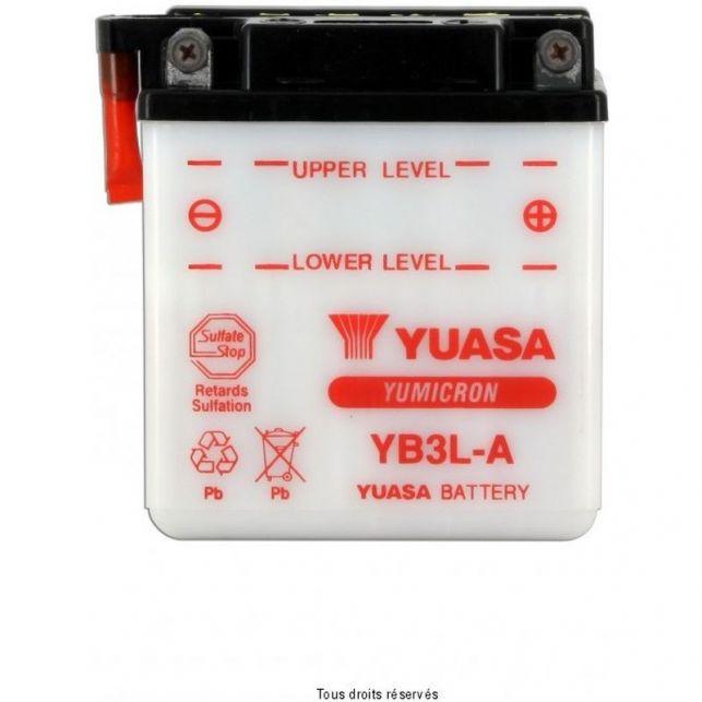 Batterie YUASA YB3L-A avec entretien