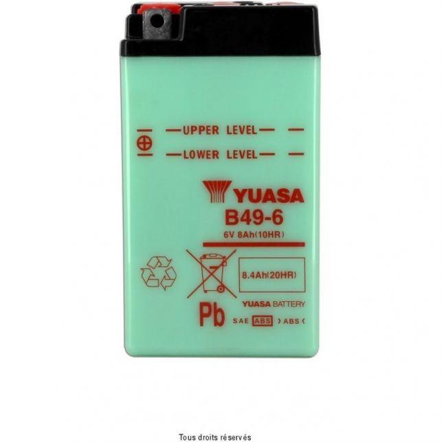 Batterie YUASA B49-6 avec entretien
