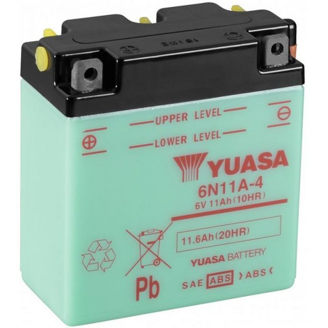 Batterie YUASA 6N11A-4  avec entretien