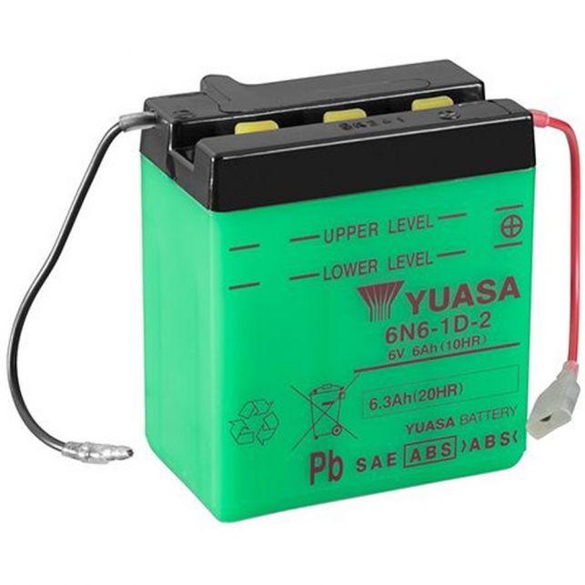Batterie YUASA 6N6-1D-2  avec entretien