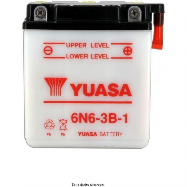 Batterie YUASA 6N6-3B-1 avec entretien