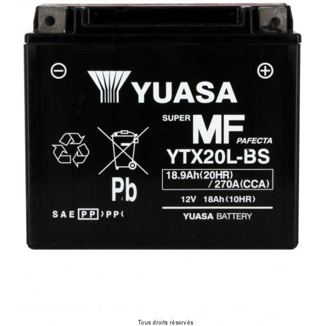 Batterie YUASA YTX20L-BS sans entretien