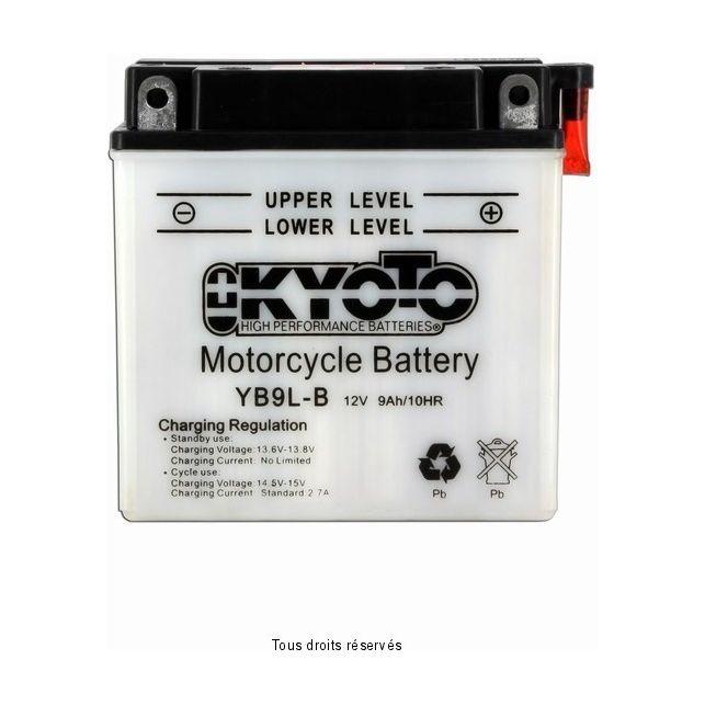 Batterie KYOTO YB9L-B / 12N9-3B avec entretien