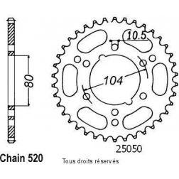 Couronne racing ESJOT 25313AZ37 PAS 520 pour ZX-10R 11-