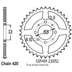 Couronne 50 à boite 21852CZ51 pour TS 50 XK 84-96