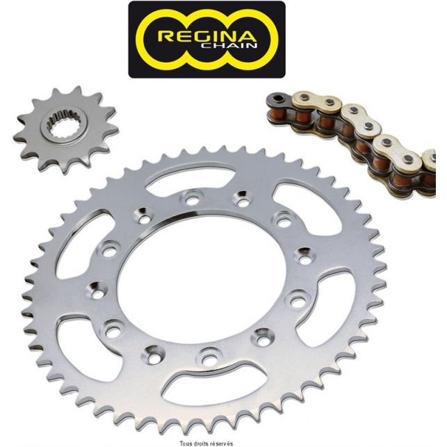 Kit chaine REGINA Kawasaki Klx 650 C Super Oring An 93 98 Kit 15 43
