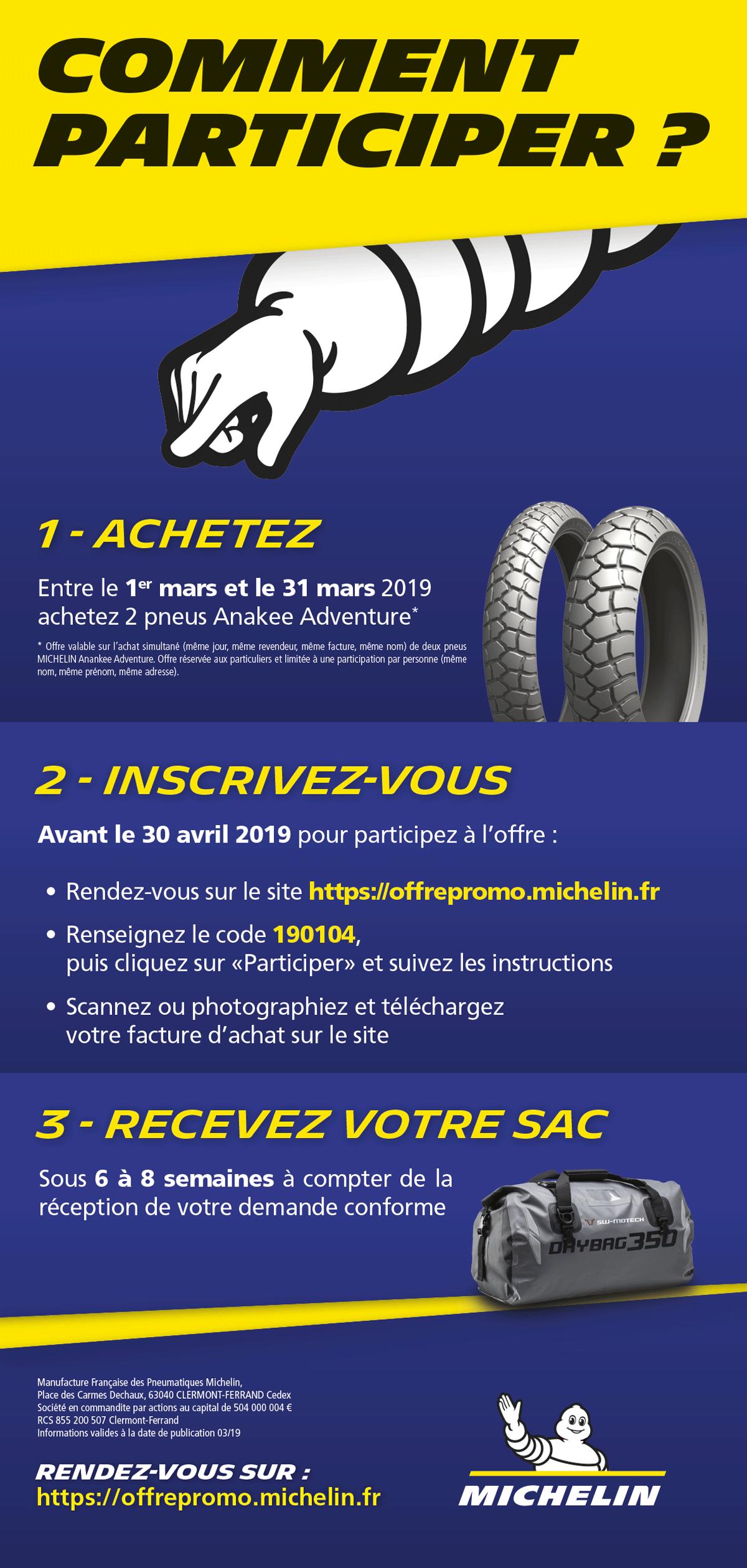 visuel ope Michelin Anakee Adventure - 1 sac SW-MOTECH offert
