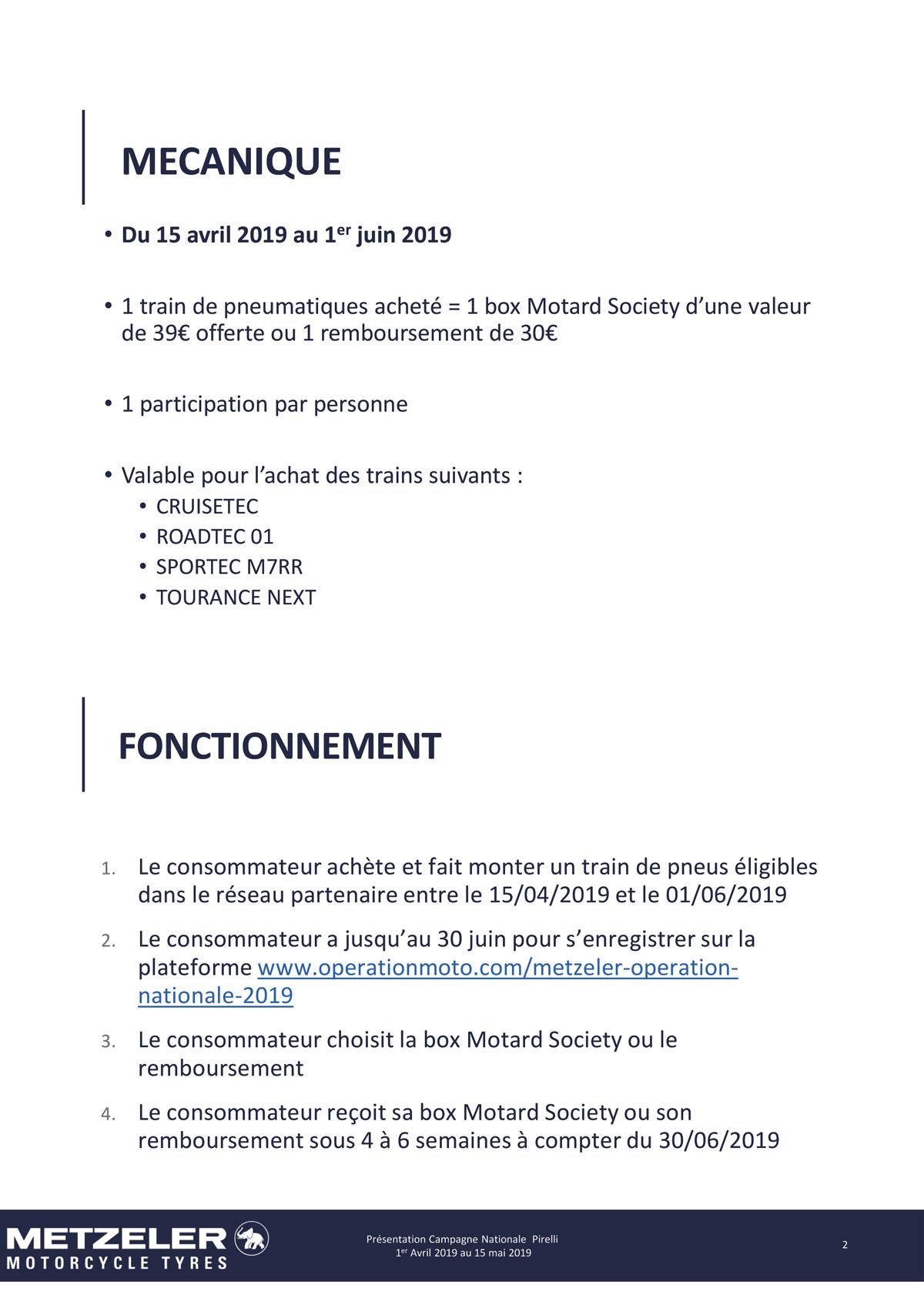 reglement opération METZELER - Box METZELER offerte - Avril Mai 2019