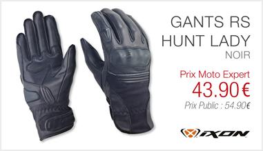 Gants IXON RS HUNT LADY noir