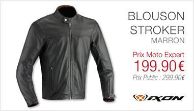 Blouson IXON Stroker marron