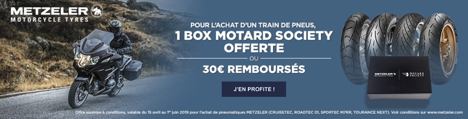Une Box Motard Society Offerte ou 30 euros remboursés - avril-mai 2019