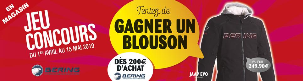 Jeu concours - blouson Bering à Gagner - avril-mai 2019