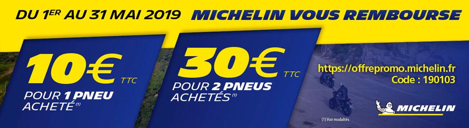 Michelin vous rembourse 10 euros ou 30 euros - mai 2019