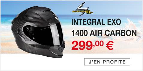 Moto Expert - Découvrez le casque intégral SCORPION EXO 1400 AIR CARBON