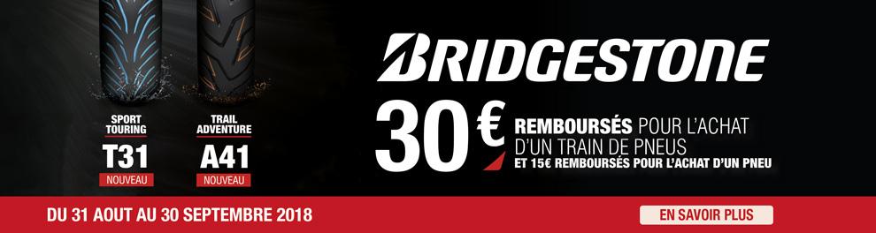 Ope Bridgestone - 30 euros rembourses pour achat train T31 ou A41