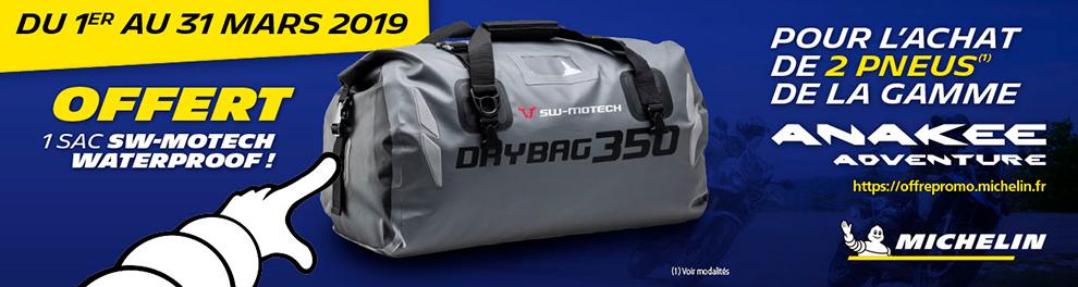 OPE Michelin - mars 2019 - 1 sac SW-MOTECH WATERPROOF OFFERT